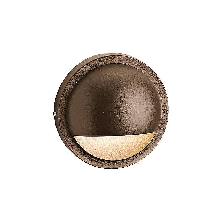 "Kichler 4"" Wide 2700K LED Bronze Half Moon"