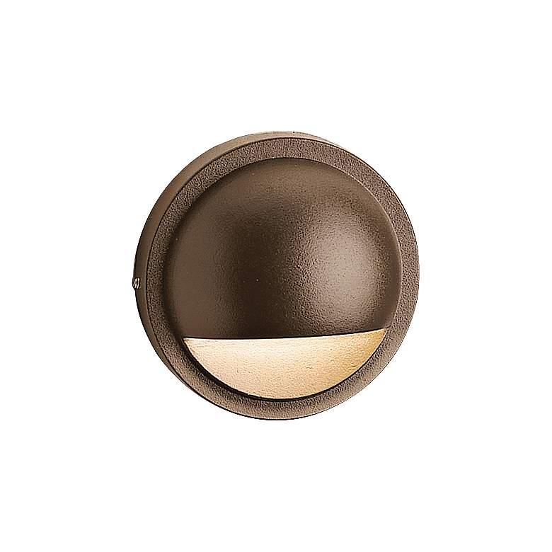 """Kichler 4"""" Wide 2700K LED Bronze Half Moon Deck Light"""