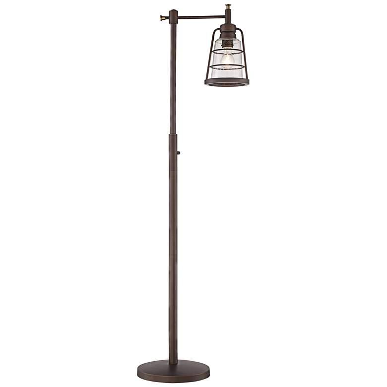 Averill Park Industrial Downbridge Bronze Floor Lamp