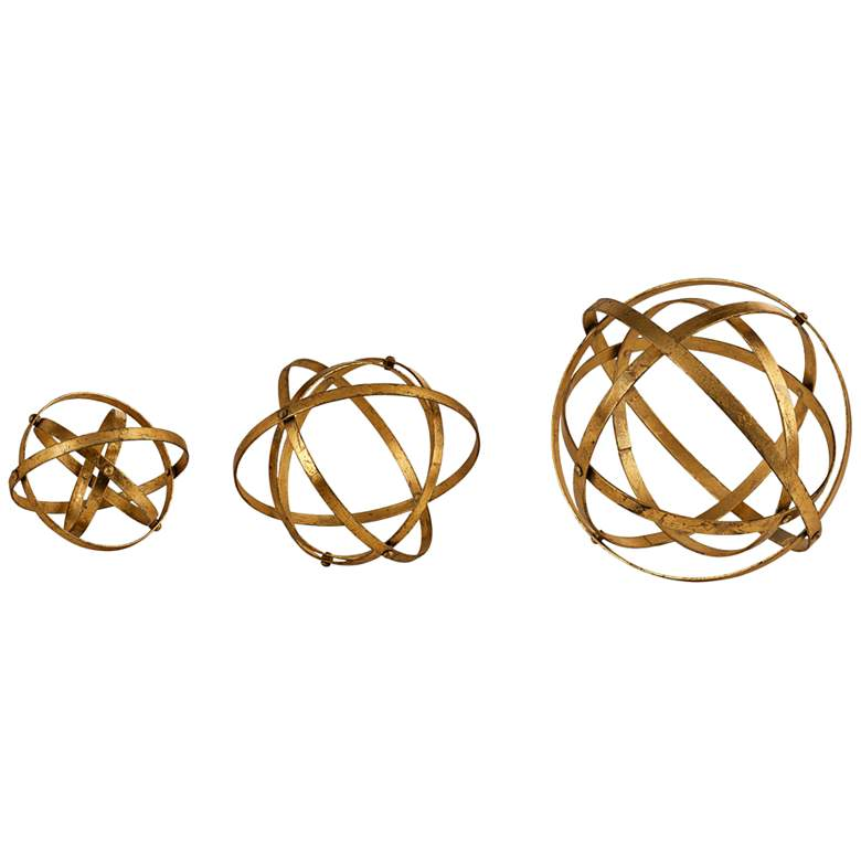 Uttermost Stetson Antiqued Gold Sphere Set of 3