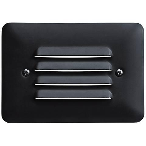 """Kichler Landscape 5"""" Wide Black 3000K LED Mini Step Light"""
