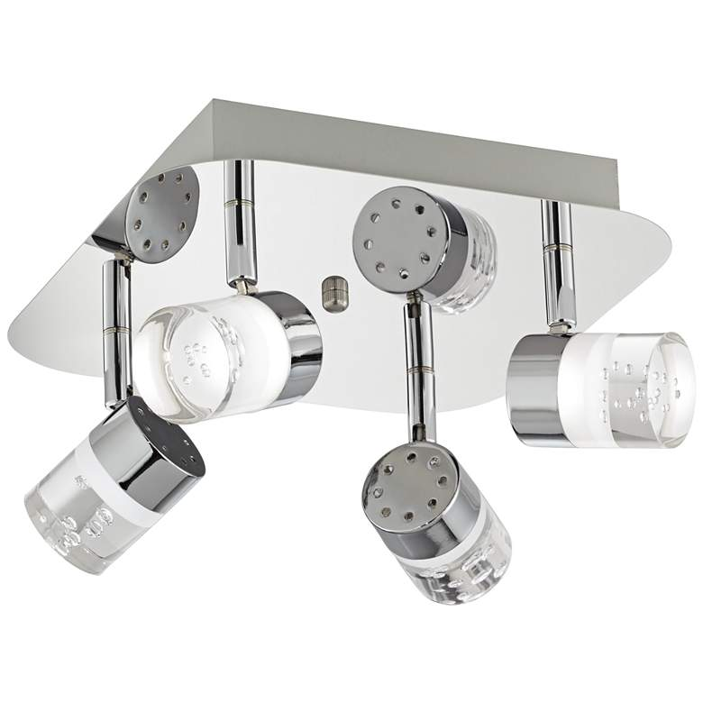 Pro Track® Linda Square Chrome LED Track Fixture