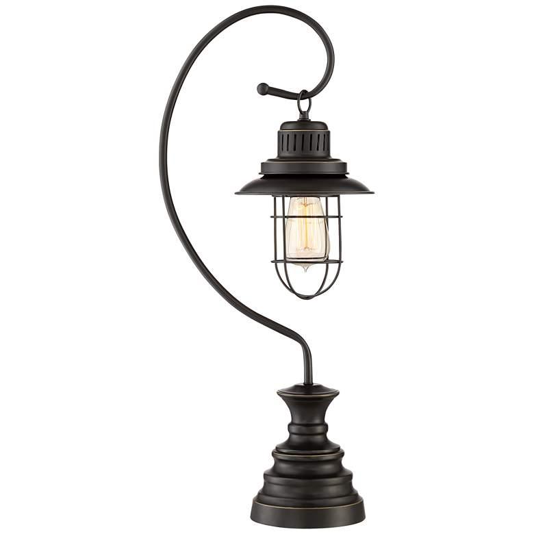 Ulysses Oil-Rubbed Bronze Industrial Lantern Desk Lamp