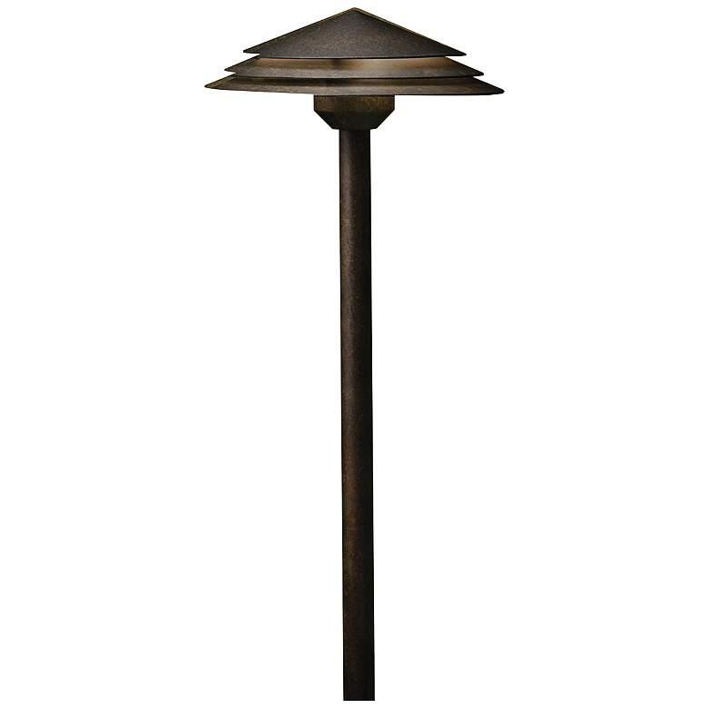 """Kichler Round Tiered 21"""" High Bronze 2700K LED"""