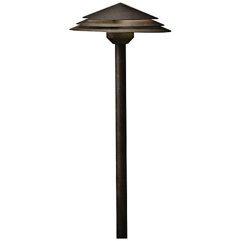 "Kichler Round Tiered 21"" High Bronze 2700K LED Path Light"