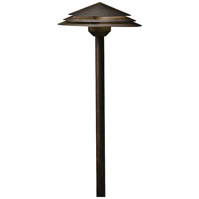 "Kichler Round Tiered 21"" High Bronze 3000K LED Path Light"