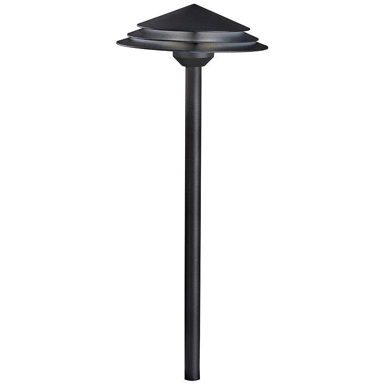 "Kichler Round Tiered 21"" High Black 3000K LED"