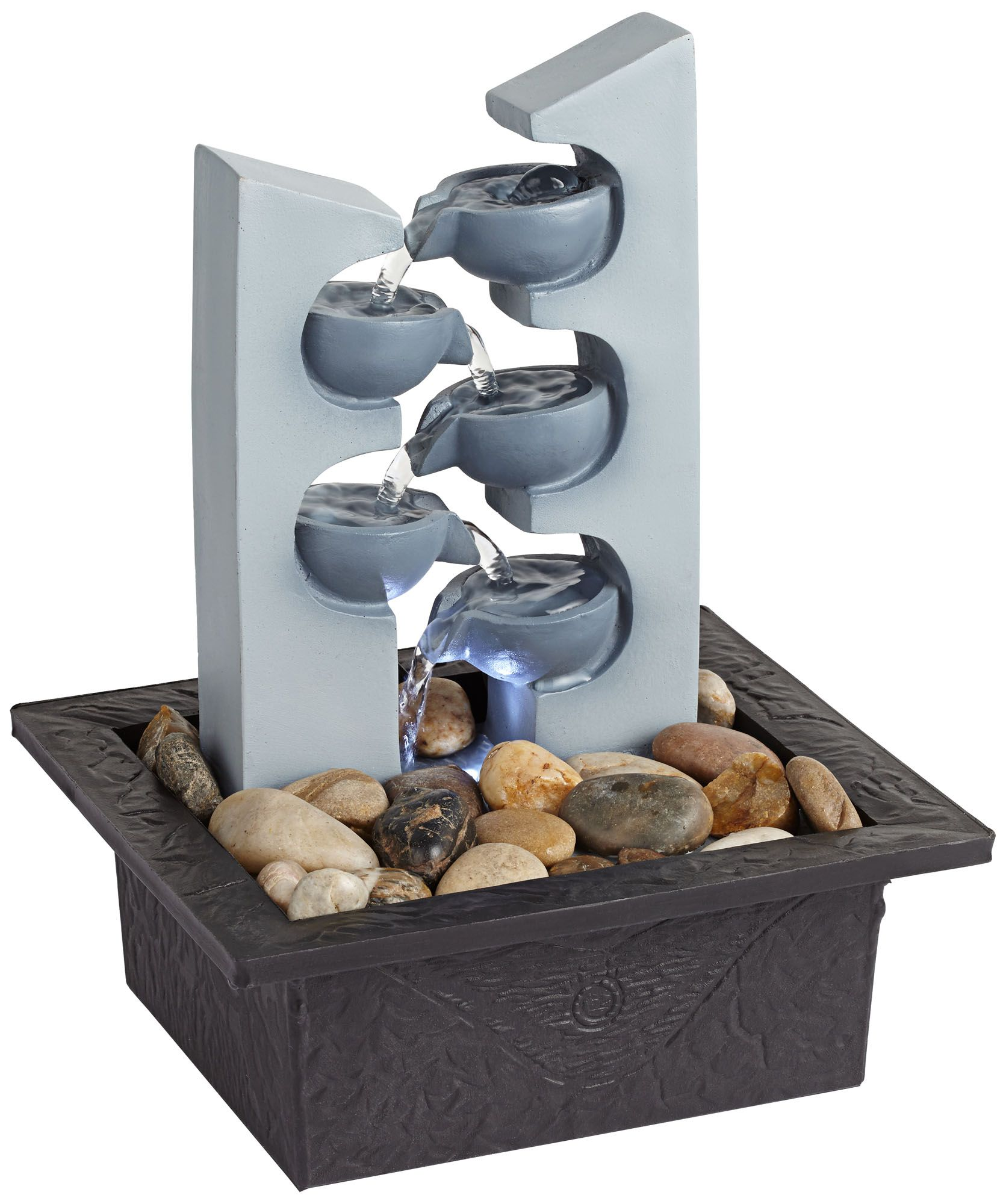 Five Cups LED Tabletop Zen Fountain