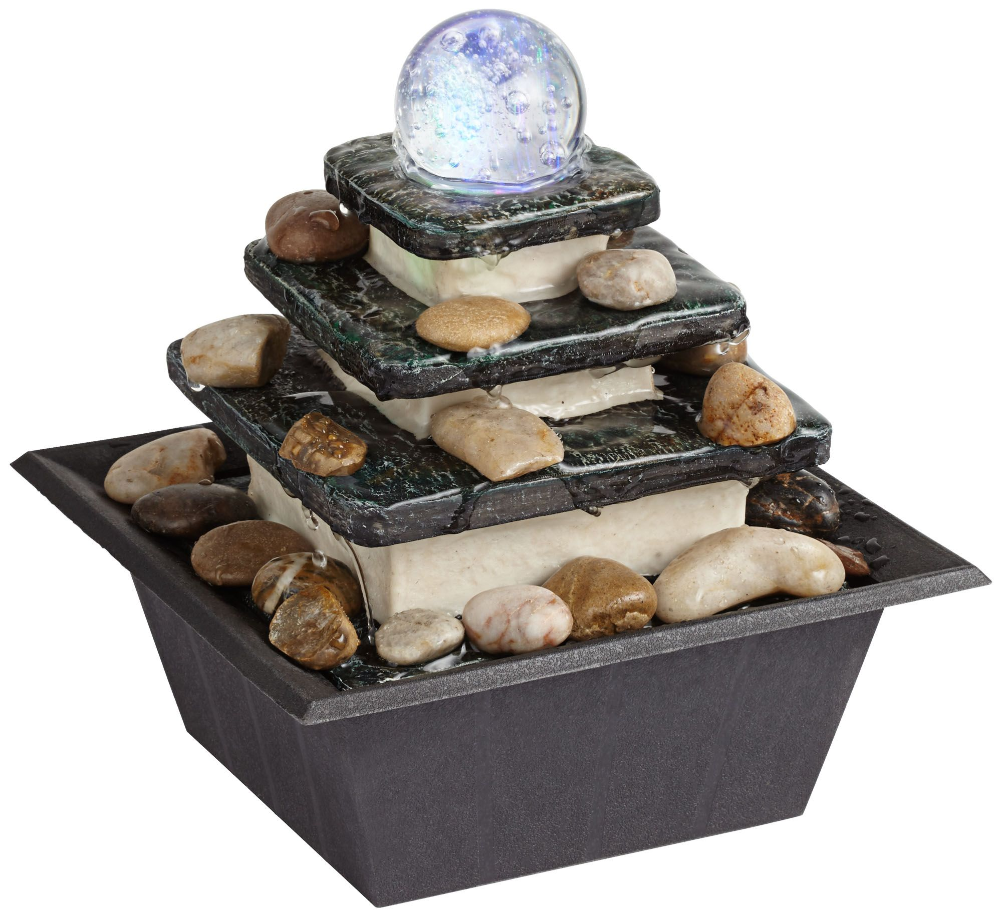 Incroyable Rolling Ball Three Tier Tabletop Zen Fountain