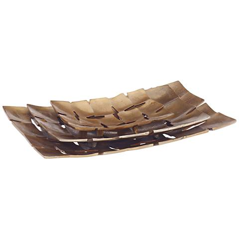 Uttermost Carlo Copper 3-Piece Rectangle Tray Set