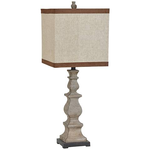Crestview Collection Burgess Sundal Wood Table Lamp