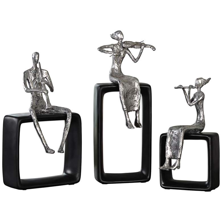 Uttermost Musical Ensemble Silver Sculptures - Set of 3