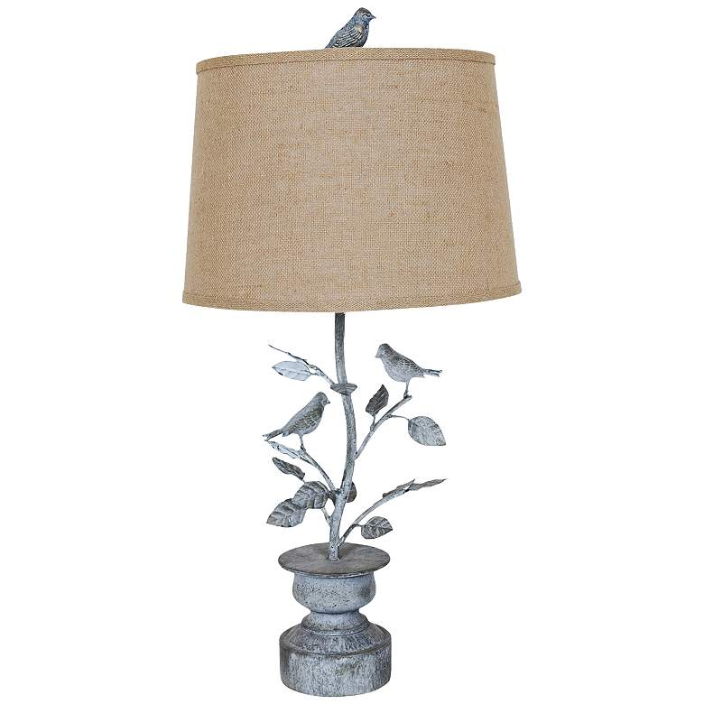 Crestview Collection Spring Planter Oxidized Table Lamp