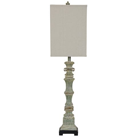 Crestview Collection Alegre Soft Green Table Lamp