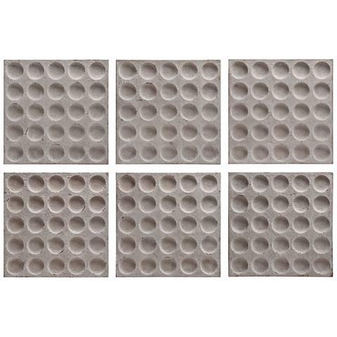 "Rogero Stone 20 1/4"" Square Alternative Wall Art Set of 6"