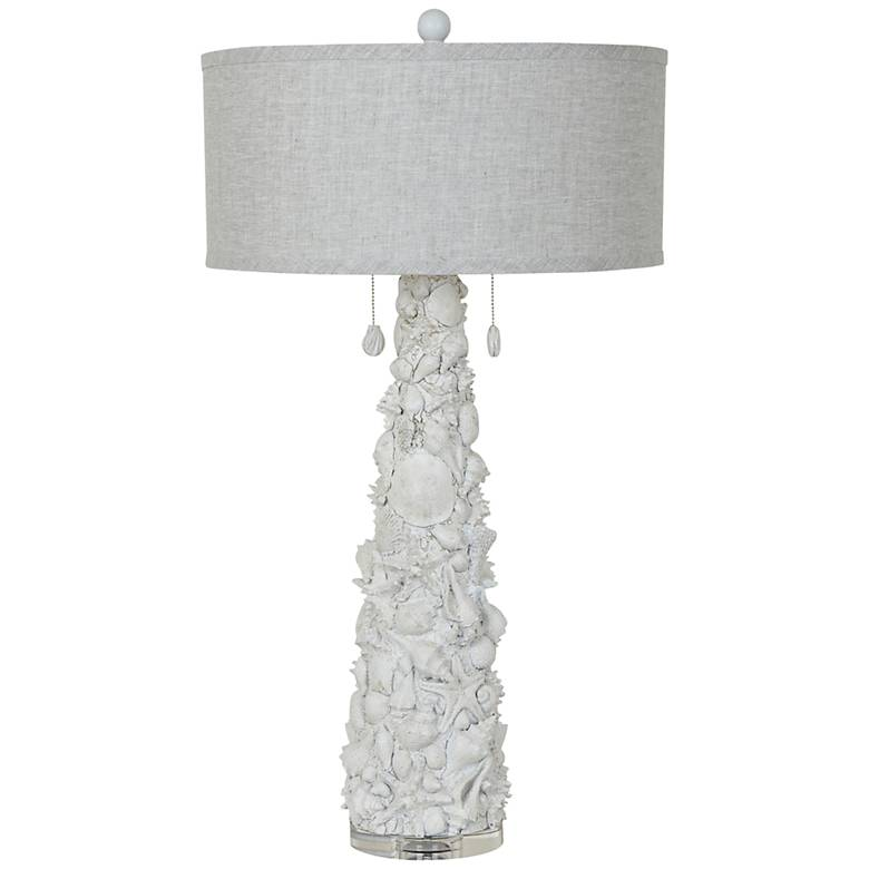 Crestview Collection Caicos White Shell Table Lamp