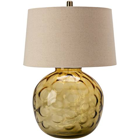 Crestview Collection Tuscany Dark Green Glass Table Lamp