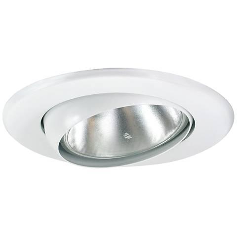 5 White Gimbal Recessed Light Eyeball Trim