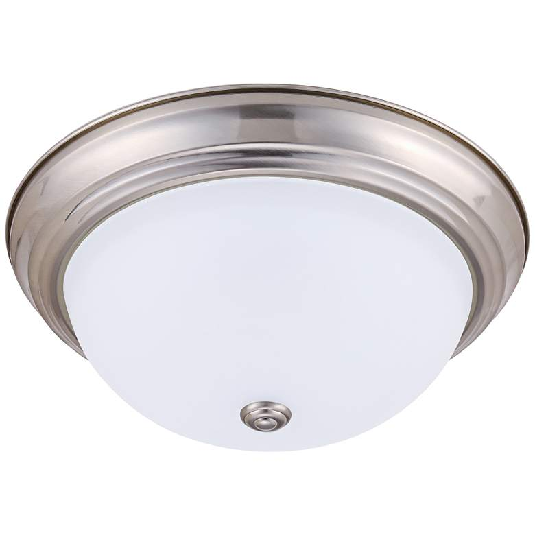 "Eco-Star Stepdown 15 1/4""W Satin Nickel LED Ceiling Light"