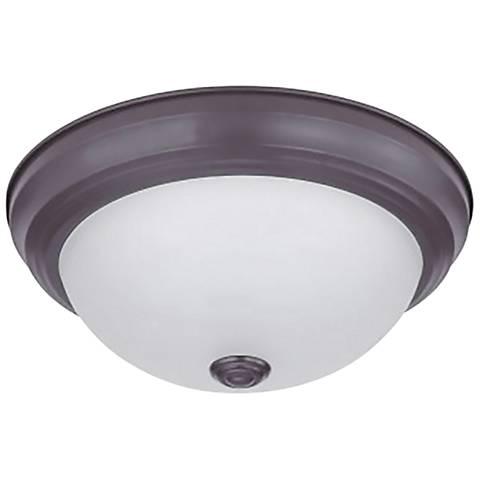"Eco-Star Stepdown 15 1/4"" Wide Bronze LED Ceiling Light"