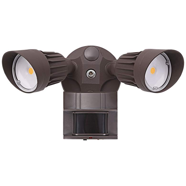 "Eco-Star 13""W Bronze Motion Sensor LED Security Light"