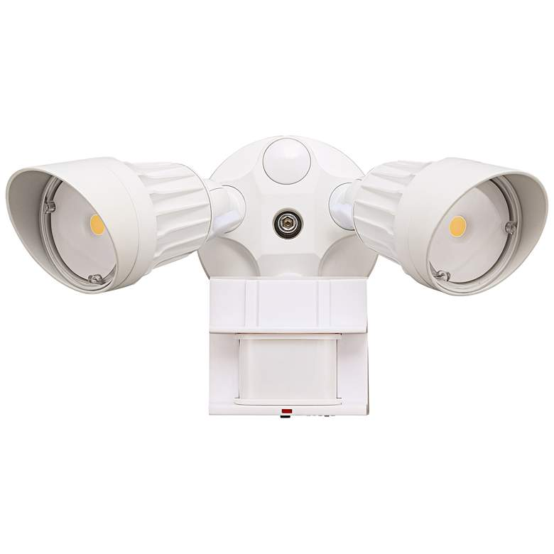"""Eco-Star 13"""" Wide LED Motion Security Flood Light in White"""