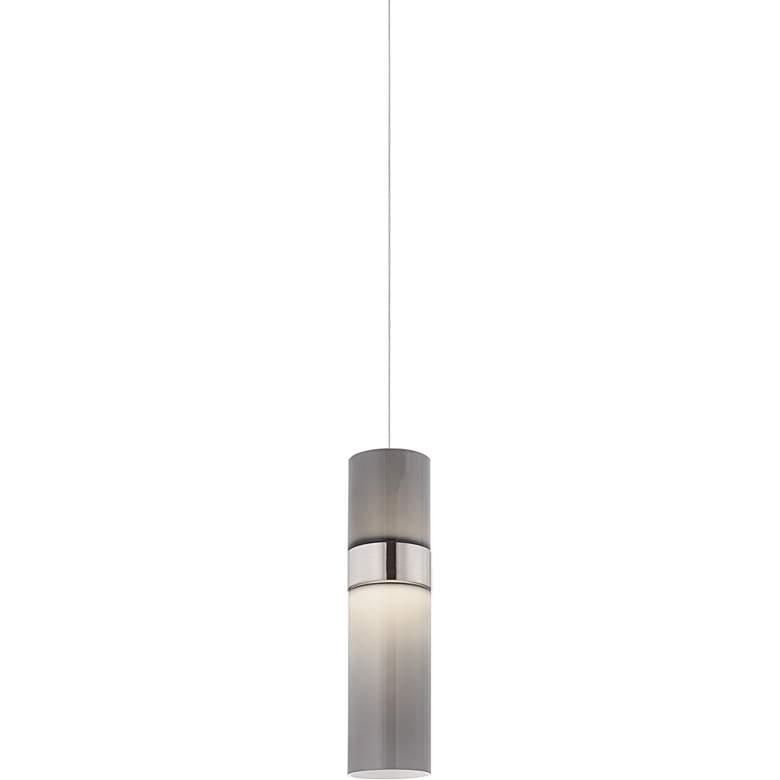 "Manette 3 1/2"" Wide Nickel Smoke Glass LED Mini Pendant"