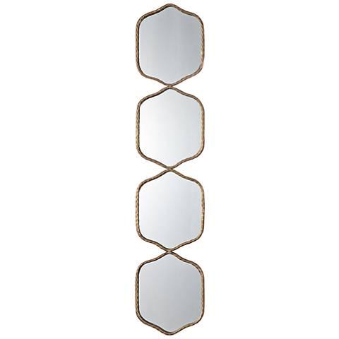 "Uttermost Myriam Gold Iron 11 1/4"" x 52 3/4"" Wall Mirror"