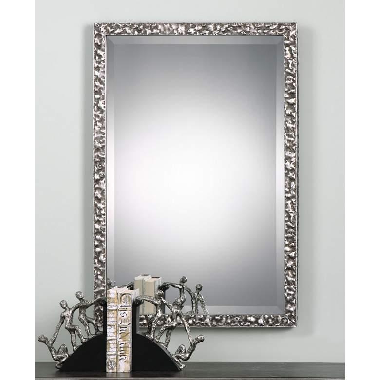 "Alshon Metallic Silver 26 1/2"" x 38 1/2"" Wall Mirror"