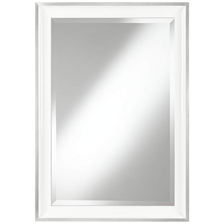 "Uttermost Lahvahn White 24"" x 34"" Rectangular Wall Mirror"
