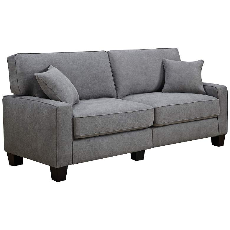 "Serta RTA Martinique 73"" Wide Kona Gray Fabric Sofa"