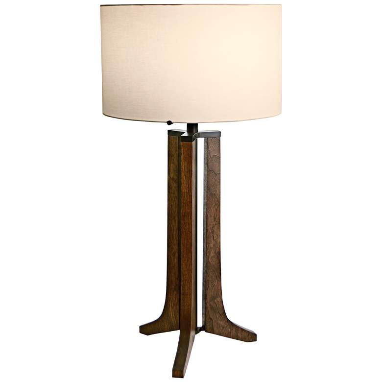 Cerno Forma Anodized Black Walnut LED Table Lamp