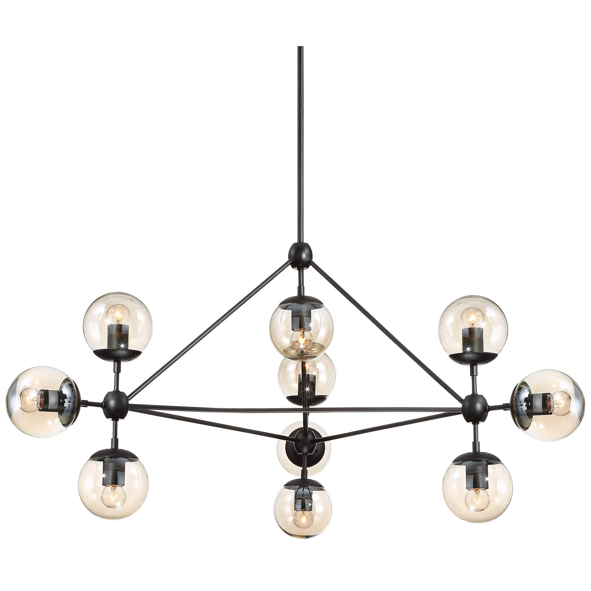 Possini euro gable 44 wide 10 light black chandelier ebay 736101795452 aloadofball Images