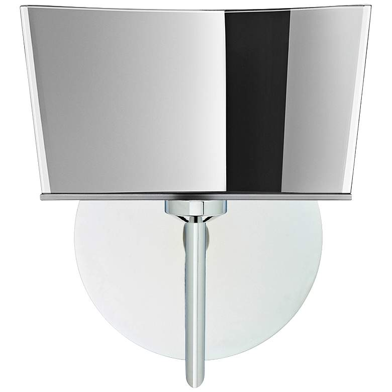 """Besa Groove 8"""" High Chrome Mirror-Frost LED Wall Sconce"""