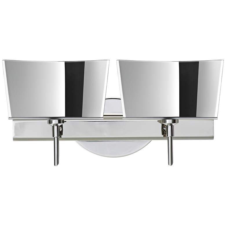 "Besa Groove 15 1/2"" Wide Chrome LED Bath"