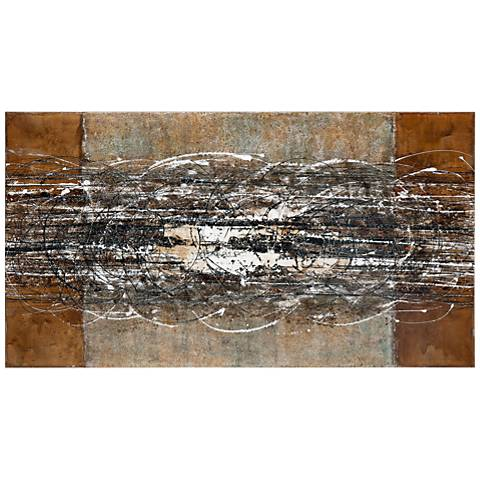 "Uttermost Frantic Abstract 70"" Wide Canvas Wall Art"