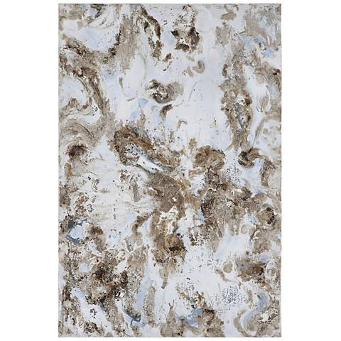 "Uttermost Dust Storm Abstract 60"" High Canvas Wall Art"