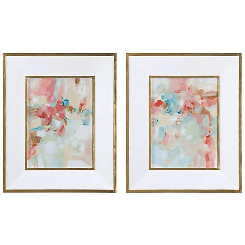 A Touch of Blush and Rosewood Fences 2-Piece Wall Art Set
