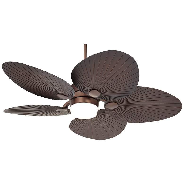 "52"" Casa Breeze Oil-Brushed Bronze LED Damp Ceiling Fan"