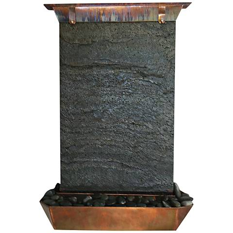 "Angel Falls 30"" High Copper Indoor-Outdoor Wall Fountain"