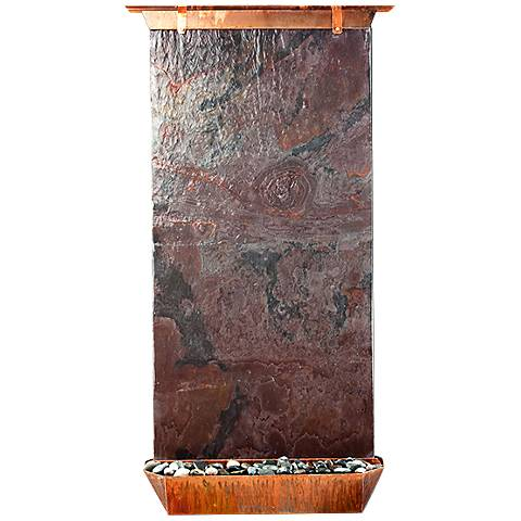 "Angel Falls 55"" High Copper Indoor-Outdoor Wall Fountain"
