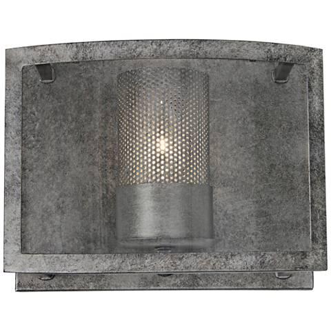 """Varaluz Jackson 8"""" High Antique Silver Wall Sconce"""