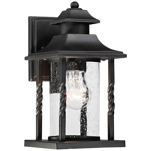 """Savoy House Dorado 11 1/2"""" High Black Outdoor Wall Light"""