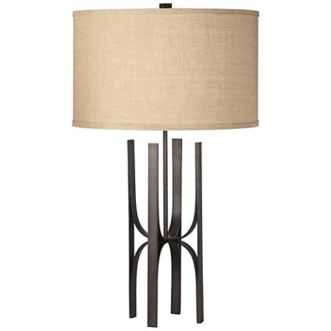 Metropolis Black Metal Table Lamp