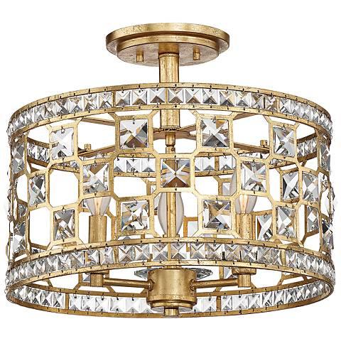 "Savoy House Clarion 15 3/4""W Gold Bullion Ceiling Light"
