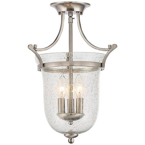 "Savoy House Trudy 12""W 3-Light Satin Nickel Ceiling Light"