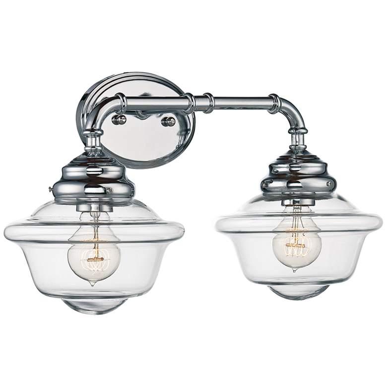 """Savoy House Fairfield 20""""W 2-Light Chrome Bath Light"""