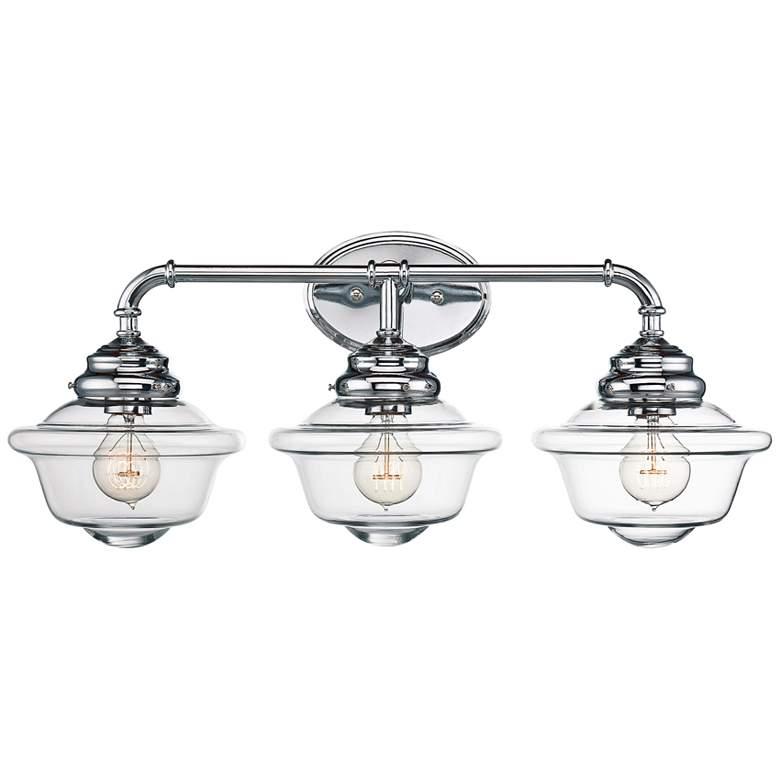 """Savoy House Fairfield 26"""" Wide 3-Light Chrome Bath Light"""