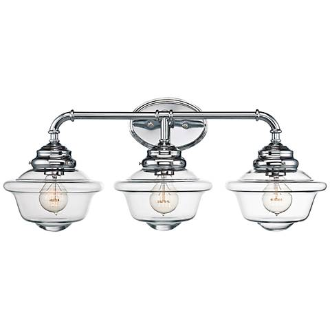 "Savoy House Fairfield 26"" Wide 3-Light Chrome Bath Light"