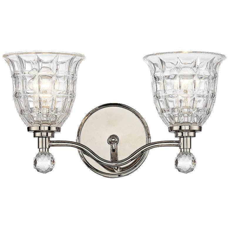 "Savoy House Birone 16""W 2-Light Polished Nickel Bath Light"
